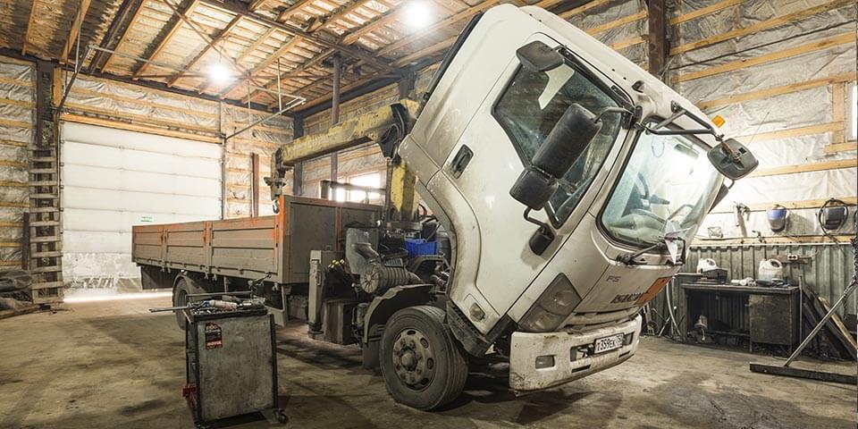 Ремонтная зона грузовых автомобилей