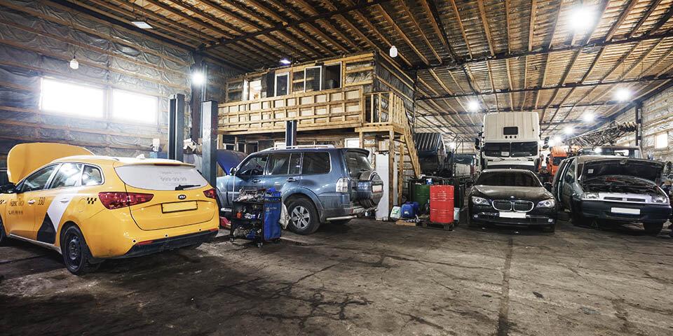 Ремонтная зона легковых автомобилей